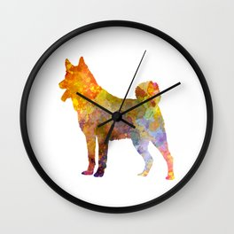 Japanese Chin 01 in watercolor Wall Clock