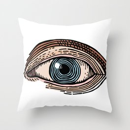 Eye of Providence in Color (transparent design) Throw Pillow