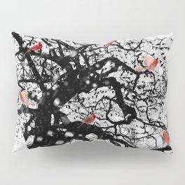 Red Birds in Snow by GEN Z Pillow Sham
