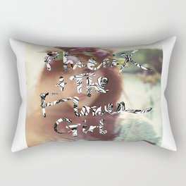 """PHOENIX AND THE FLOWER GIRL """"photo synth thesis"""" PRINT Rectangular Pillow"""