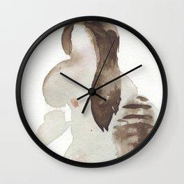 Erotic watercolor of Rain Wall Clock