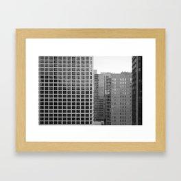 Chicago black&white 3 Framed Art Print