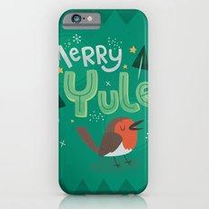 Merry Yule Greetings Design Slim Case iPhone 6s