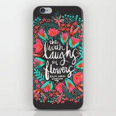 The Earth Laughs in Flowers – Pink & Charcoal iPhone & iPod Skin