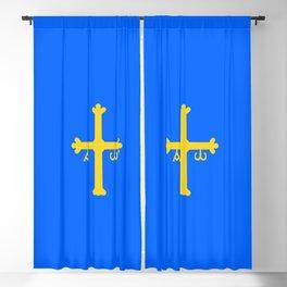flag of asturias Blackout Curtain