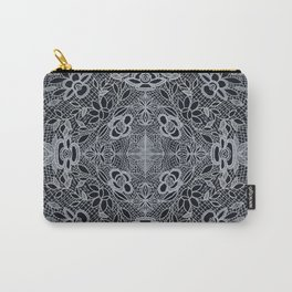 Crocheted Lace Mandala Carry-All Pouch