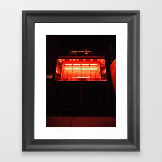 Jukebox waiting Framed Art Print