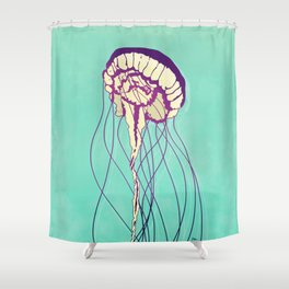 Under the Turquoise Sea Shower Curtain
