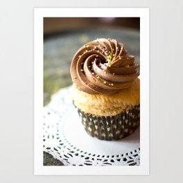 Birthday Cupcake Art Print