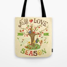 Fall in Love with the Season Tote Bag