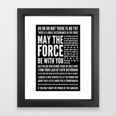 Star Wars Quotes Framed Art Print