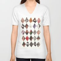 diamonds V-neck T-shirts featuring DIAMONDS by Brandon Neher