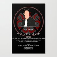 agents of shield Canvas Prints featuring Agents of S.H.I.E.L.D. - Ward by MacGuffin Designs