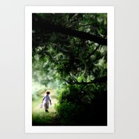 neverland Art Prints featuring Neverland by NishaJayne
