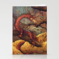 smaug Stationery Cards featuring Dragons Lair by Angela Rizza
