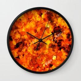 Polygon Fire Wall Clock