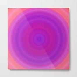 Orange & Purple Gradient Circles Metal Print