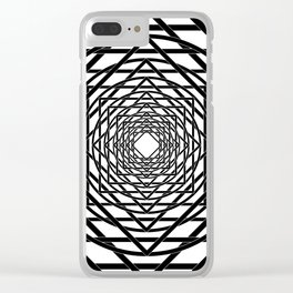 Diamonds in the Rounds B&W Clear iPhone Case