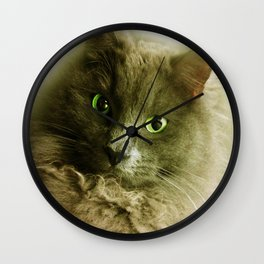 Wake up! Time to feed the Cat! Wall Clock