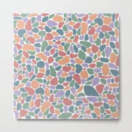 Pastel Pebbles Metal Print