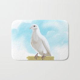 Hand Painting Dove Bath Mat