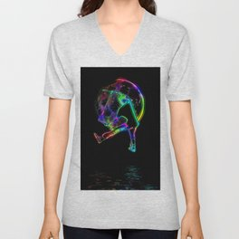 Scoot the Moon - Scooter Boy Unisex V-Neck
