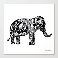 ganesh Canvas Prints featuring Ganesh by doctusdesign