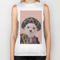 mexican Biker Tanks featuring Mexican Chihuahua by Rachel Waterman