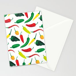 Chili Pepper Pattern Stationery Cards