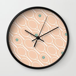 Pink Tennis #society6 #decor #buyart Wall Clock