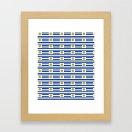flag of Uruguay-Uruguyan,montevideo,spanish,america,latine,Salto,south america,paysandu,costa,sun Framed Art Print