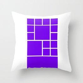 Windows Phone 8 Grid - Purple Throw Pillow