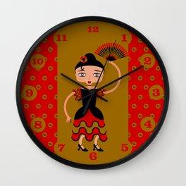 Spanish Flamengo Dancer Wall Clock