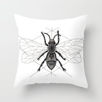insect Throw Pillows featuring insect by silb_ck