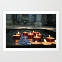 prayer candles Art Print