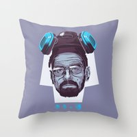 breaking Throw Pillows featuring BREAKING BAD by Mike Wrobel