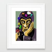 magneto Framed Art Prints featuring Magneto by Nathan Jackson Artist