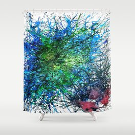 Abstract Synapse 293 Shower Curtain