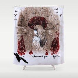 A Homeward Head Shower Curtain