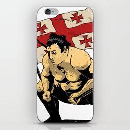 """Sumo-Ringer """"Tochinoshin"""" Rikishi Georgia ノ 心 剛 ლევან გორგაძე iPhone Skin"""