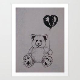 Baloon Bear Art Print