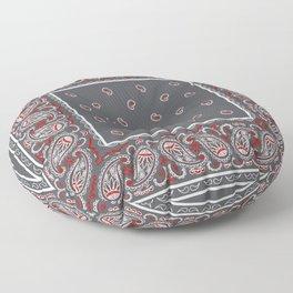 Wicked Gray Bandana Floor Pillow