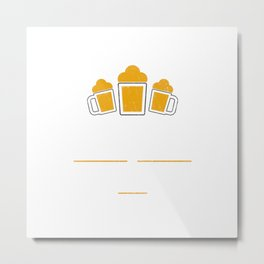 Chicago Is Brewtiful Craft Beer with Barley & Hops Metal Print