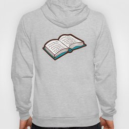 Bookish Reading Pattern in Red Hoody