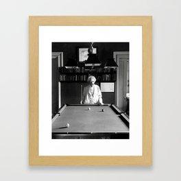 Mark Twain Billards Framed Art Print