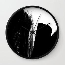 Monochrome Ink 02 Wall Clock