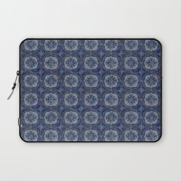 Vintage blue ceramic tiles pattern Laptop Sleeve