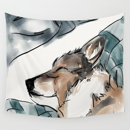 Charles Blue Wall Tapestry