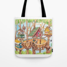 Treehouse Fun Farm Tote Bag