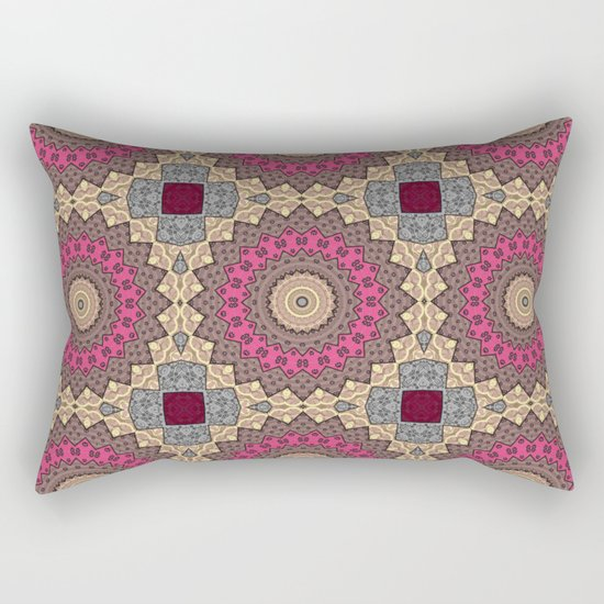 Lazy patchwork . Abstraction . Rectangular Pillow